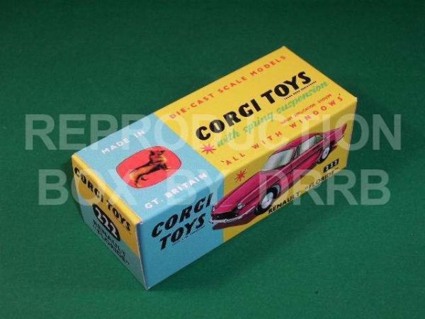 "Corgi #222 Renault Floride - Reproduction Box - "" For the Maroon model"""